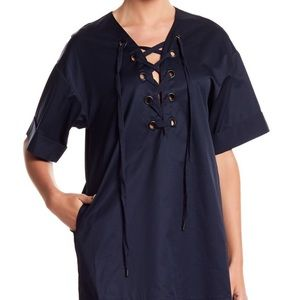 NWT | Kendall & Kylie | Lace-Up Shift Dress